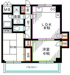 東京都小平市学園西町2丁目の賃貸マンションの間取り