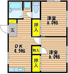 ホワイトピア藤井[-2階]の間取り