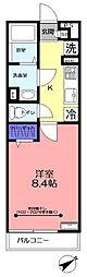 リブリ・リッツハウス藤崎[203号室]の間取り