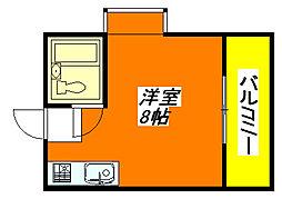 グローリア・高井田 207号室[2階]の間取り