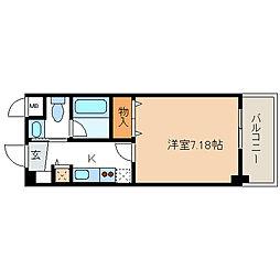 レジディア新川[216号室]の間取り