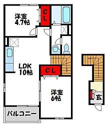 ミルデハイム A棟[2階]の間取り