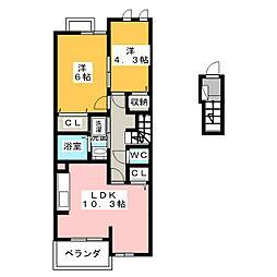 グランディオーソ1[2階]の間取り