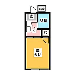 さくら第1コーポ[1階]の間取り