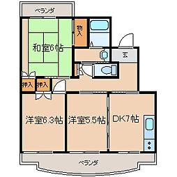 神奈川県相模原市南区大野台7丁目の賃貸マンションの間取り