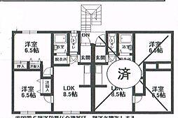 北海道釧路市星が浦北[2F左号室]の間取り