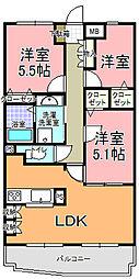 ベル・エポック21[305号室]の間取り