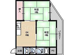 サンヨウマンション[3階]の間取り