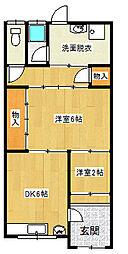 [テラスハウス] 兵庫県尼崎市大島1丁目 の賃貸【/】の間取り