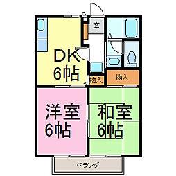 セレナードF[2階]の間取り