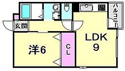 ロイヤルメゾン西宮北口VII[2階]の間取り