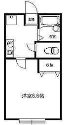 東京都品川区豊町1丁目の賃貸アパートの間取り