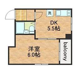 中之島ハイム[3階]の間取り