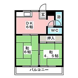 コーポグリーン志水[1階]の間取り