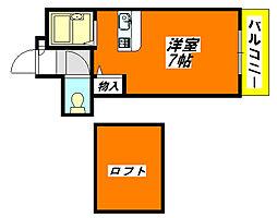 CTビュー・永和 610号室[6階]の間取り