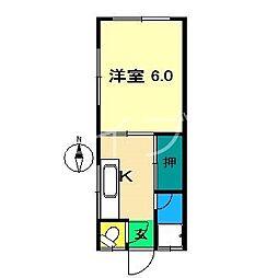 ジェミナス[2階]の間取り