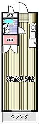 コアクレスト永山2[205号室]の間取り