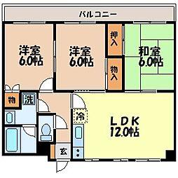 諫早七福マンション[404号室]の間取り