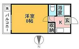 福岡県福岡市城南区神松寺3丁目の賃貸マンションの間取り