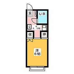 メイゾン東山[1階]の間取り