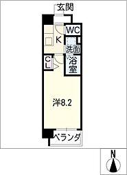 フラワーズドリームII[8階]の間取り