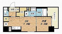 ザ・大阪レジデンス備後町 11階1LDKの間取り