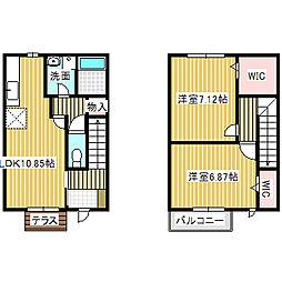 愛知県名古屋市港区大手町5丁目の賃貸アパートの間取り
