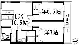 久代ビル[5階]の間取り