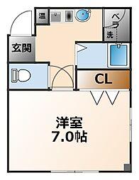 ARK武庫川[2階]の間取り