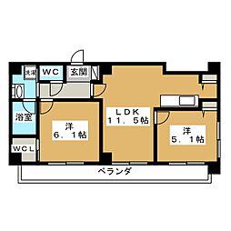 ALTA京都堀川ウインドア[14階]の間取り