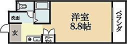 京都府宇治市木幡西浦の賃貸マンションの間取り