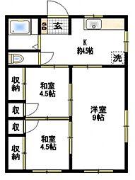 関根荘[1階]の間取り