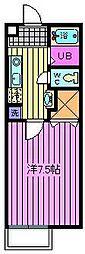 ソレイユIII[203号室]の間取り
