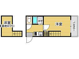 レジデンス七隈[2階]の間取り