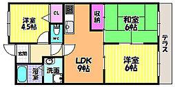 茱萸木壱番館[1階]の間取り