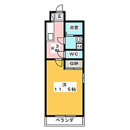 MIYABIROU(ミヤビロウ)[2階]の間取り