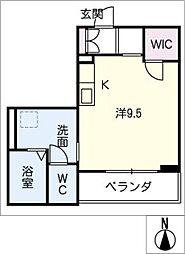 アミコートノリタケ[2階]の間取り