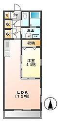 愛知県名古屋市天白区高島2丁目の賃貸アパートの間取り