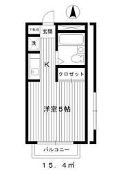 東京都練馬区桜台6丁目の賃貸マンションの間取り