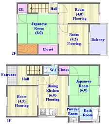 [一戸建] 兵庫県神戸市垂水区千代が丘2丁目 の賃貸【兵庫県 / 神戸市垂水区】の間取り