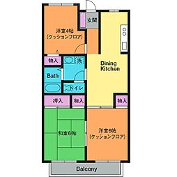 トミーハウス[2階]の間取り