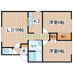 北海道札幌市東区北二十三条東19丁目の賃貸アパートの間取り
