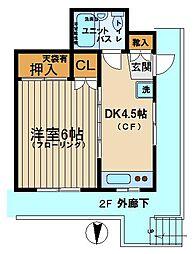 太田コーポ[202号室]の間取り