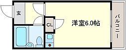 サンロード白鷺[3階]の間取り