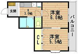 ホーリーベル[2階]の間取り
