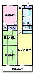 ヒカリハイツ・ドイ 3階3LDKの間取り