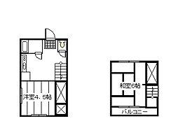 [テラスハウス] 東京都府中市清水が丘3丁目 の賃貸【/】の間取り