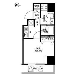 プレール・ドゥーク板橋本町II[203号室]の間取り