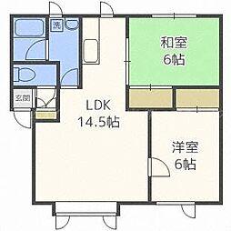 コーポオカジマ[2階]の間取り
