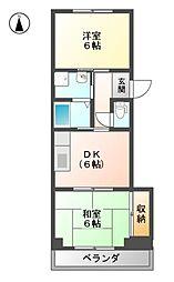 マンションオオノ[3階]の間取り